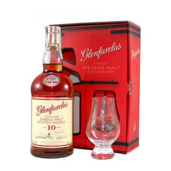 Glenfarclas 10 éves Single Malt whisky 07 pdd pohár 40 vásárlás