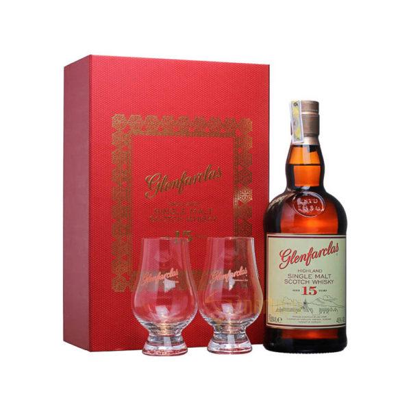 Glenfarclas 15 éves Single Malt whisky 07DD 2 pohár 46 vásárlás