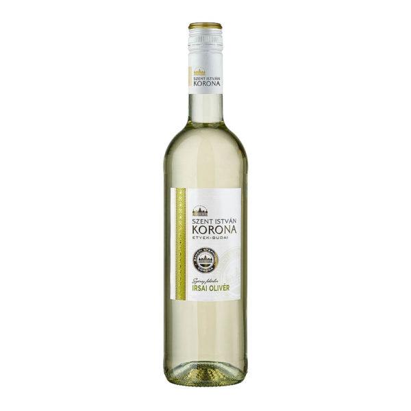 Szent István Korona Etyek Budai Irsai Olivér száraz fehér bor 075 vásárlás