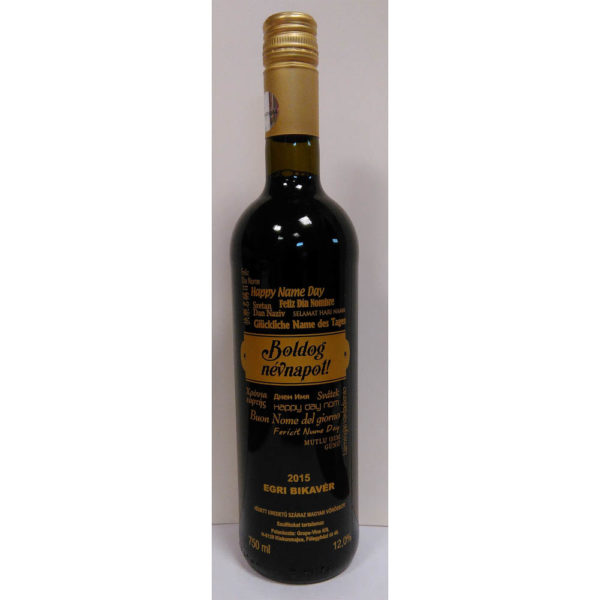 Boldog Névnapot Egri Bikavér száraz vörösbor 075 csavarzárasGV vásárlás