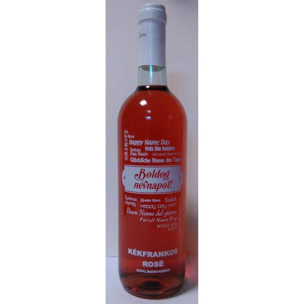 Boldog Névnapot Kékfrankos Rosé száraz bor 075GV vásárlás