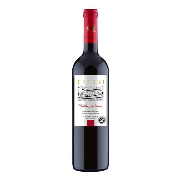 Teleki Válogatás Gasztro Villányi Merlot száraz vörösbor 075 vásárlás