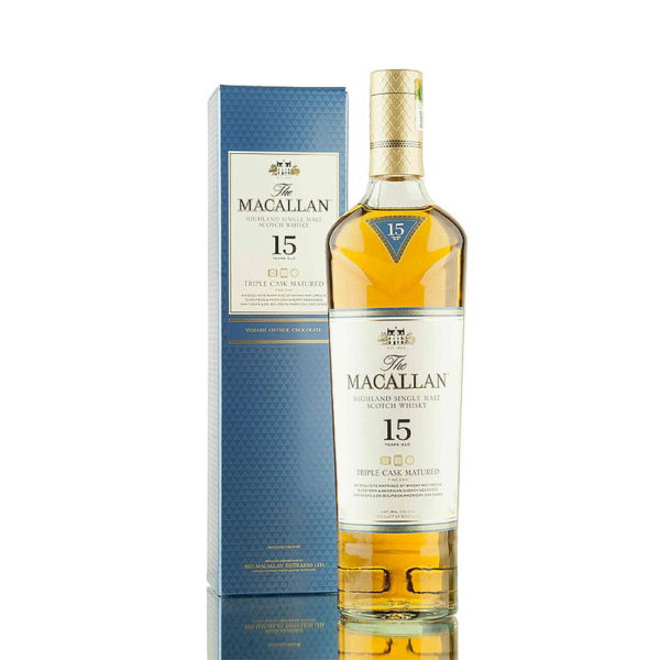 Macallan 15 éves Triple Cask Matured Single Malt Scotch whisky 07 pdd. 43 vásárlás