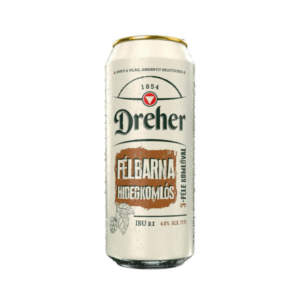 Dreher Félbarna Hidegkomlós 05 dobozos sör 46 vásárlás