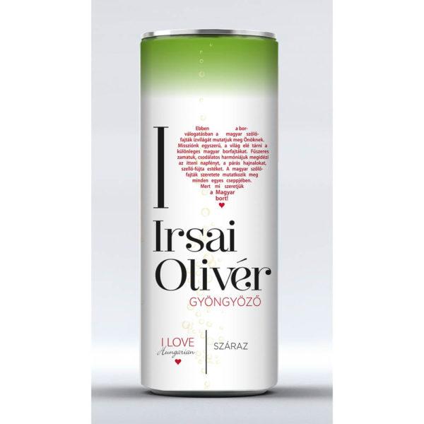 I LOVE Irsai Olivér száraz gyöngyöző fehérbor 025 dobozos vásárlás
