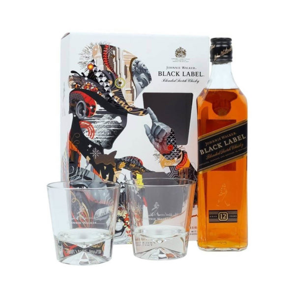 Johnnie Walker Black Label whisky 07 pdd. 2 pohár 40 vásárlás