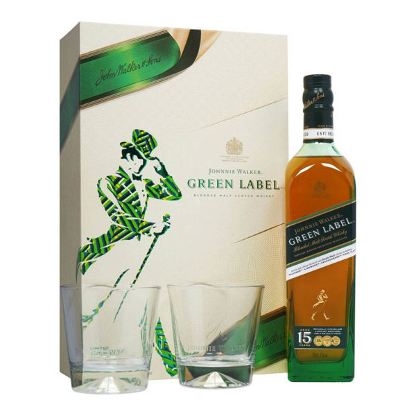 Johnnie Walker Green Label 15 éves whisky 07 pdd. 2 pohár 43 vásárlás