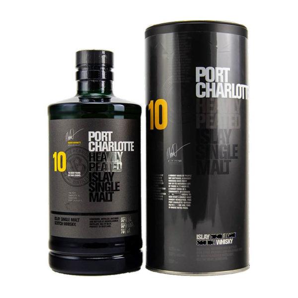 Port Charlotte 10 éves Heavily Peated Islay Single Malt whisky 07 dd. 50 vásárlás