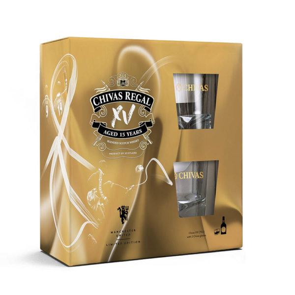 Chivas Regal XV 15 éves Blended Scotch whisky 07 pdd. 2 pohár 40 vásárlás