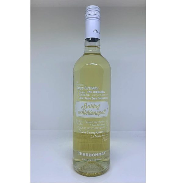 Boldog Születésnapot Chardonnay száraz fehérbor 075 vásárlás