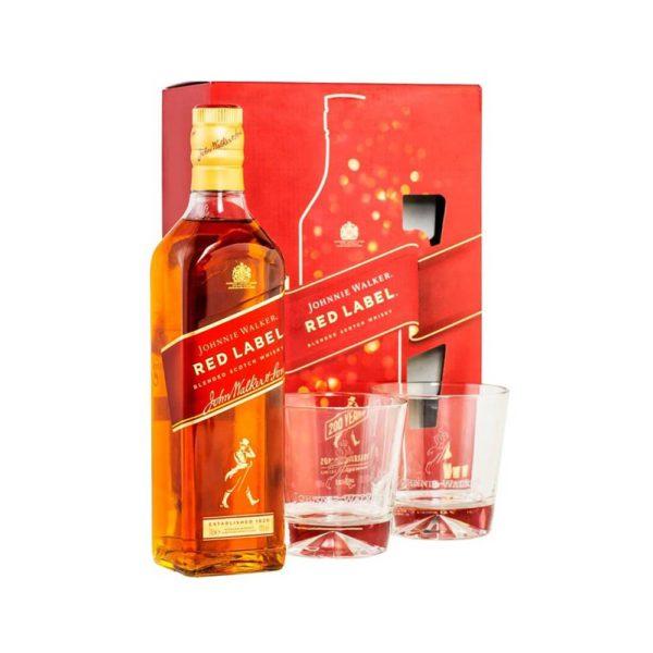 Johnnie Walker Red label whisky 07 dd 2 pohár 40 vásárlás